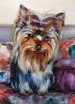 """""""Yorkie Angel Painting, Step by Step by Nancy Medina"""" original fine art by Nancy Medina"""