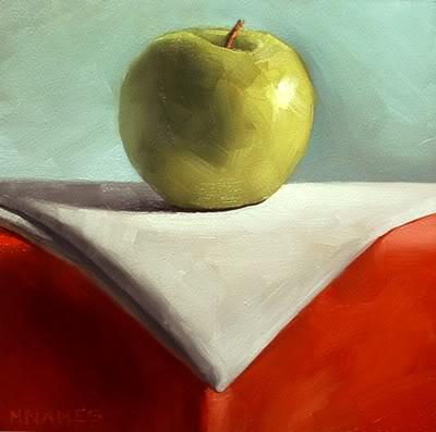 """Formal Apple"" original fine art by Michael Naples"