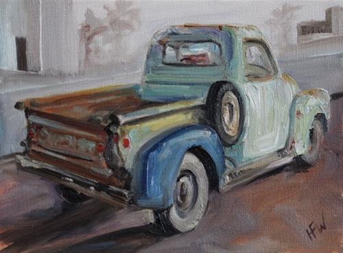 """Chevy for Sale"" original fine art by H.F. Wallen"