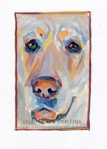 """Baxter, A Painted Sketch"" original fine art by Kimberly Santini"