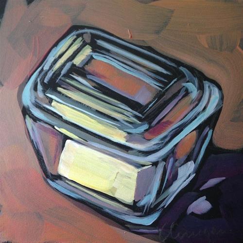 """Jill's ButterDish"" original fine art by Kat Corrigan"