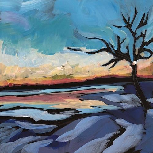 """Duluth Sunset"" original fine art by Kat Corrigan"