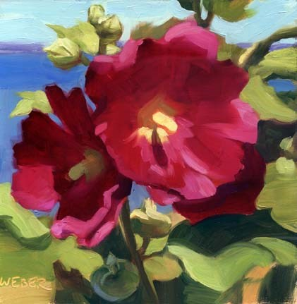 """Magenta"" original fine art by Kathy Weber"