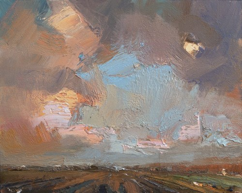 """""""Painting the Sky"""" original fine art by Roos Schuring"""