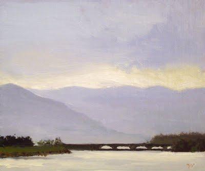 """Ashokan Reservoir"" original fine art by Abbey Ryan"