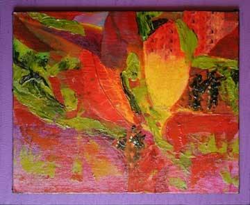"""Leaf Abstract 3"" original fine art by Kara Butler English"