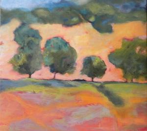 """""""Orange Hills"""" original fine art by Janet Bludau"""