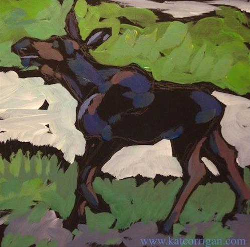 """Summer Walk"" original fine art by Kat Corrigan"