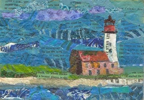 """Light House Before the Rain"" original fine art by Kara Butler English"