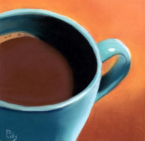 """my coffee cup"" original fine art by Ria Hills"