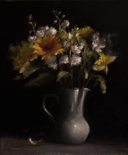 """""""Flowers in Jug"""" original fine art by Neil Carroll"""
