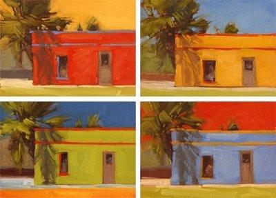 """Fiesta Gardens Quartet"" original fine art by Laurel Daniel"