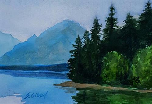 """Lake McDonads , Montana"" original fine art by Steve Gibson"