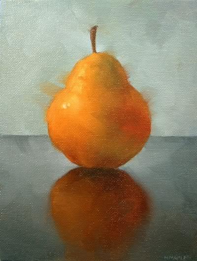 """""""Solitaire Pear"""" original fine art by Michael Naples"""