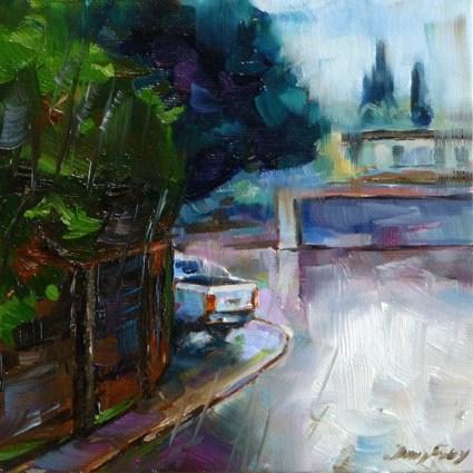 """""""it is raining"""" original fine art by Jurij Frey"""