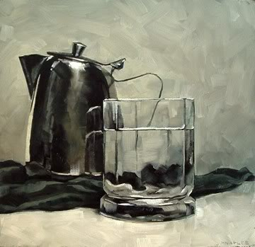 """Proud Creamer with Glass"" original fine art by Michael Naples"
