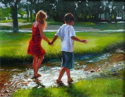 """A Walk in the Park"" original fine art by Susan N Jarvis"