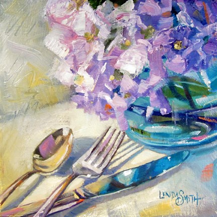"""Blue Reflections"" original fine art by Linda K Smith"