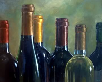 """Wine Necks"" original fine art by Michael Naples"