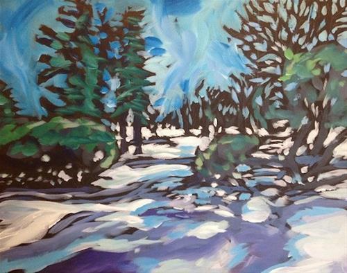 """Nokomis Parkway Shadows"" original fine art by Kat Corrigan"