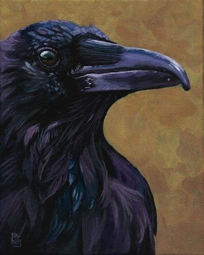 """Portrait of a Crow"" original fine art by Ria Hills"