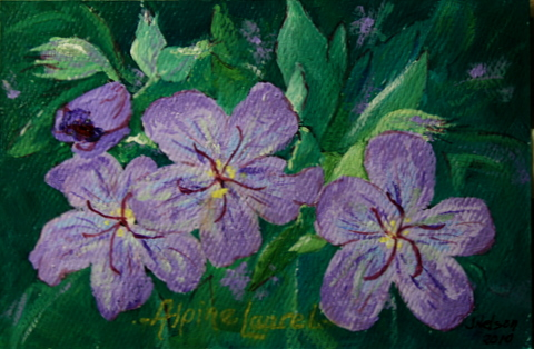 """Alpine Laurel"" original fine art by Jean Nelson"