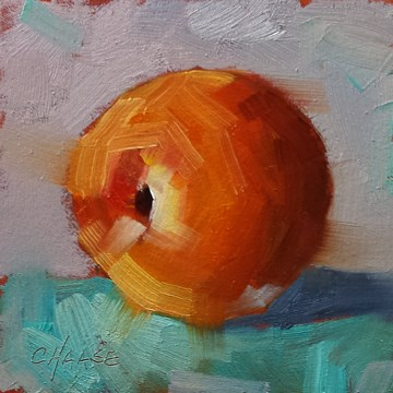 """""""Peach on Turquoise"""" original fine art by Cindy Haase"""