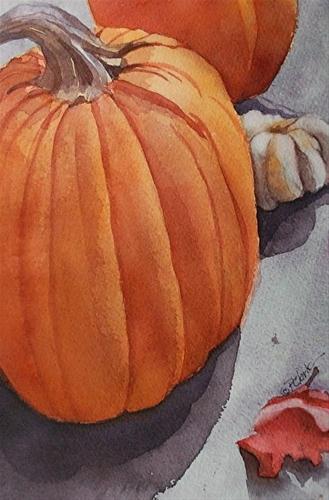 """Autumn Light_10.5x6.75watercolor still life"" original fine art by Donna Pierce-Clark"