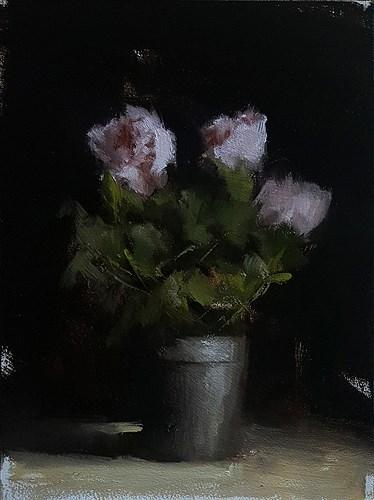 """Rose Plant"" original fine art by Neil Carroll"