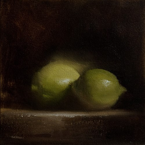 """Green Lemons"" original fine art by Neil Carroll"