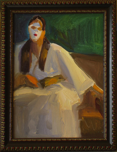 """Japanese Woman"" original fine art by Carol Steinberg"