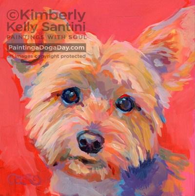 """Liam"" original fine art by Kimberly Santini"