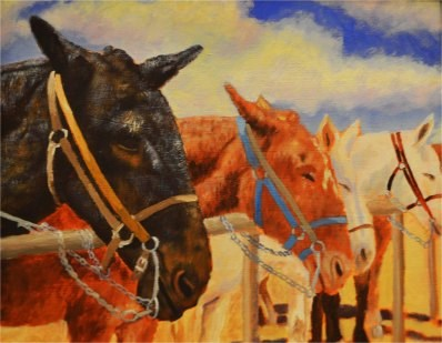 """Old Buddies"" original fine art by Robert Frankis"