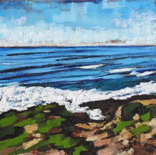 """""""Cabrillo Seascape"""" original fine art by Kevin Inman"""