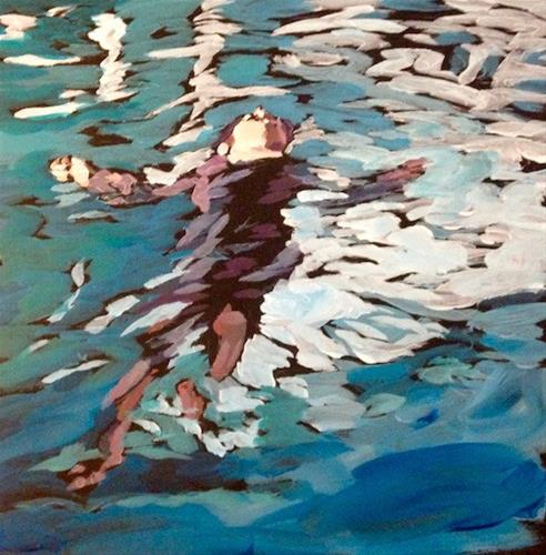 """Backfloat at the Radisson"" original fine art by Kat Corrigan"