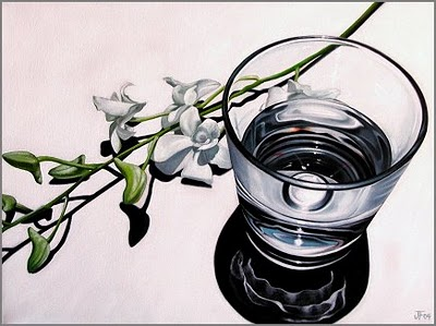 """""""Refraction Study in White"""" original fine art by Jelaine Faunce"""