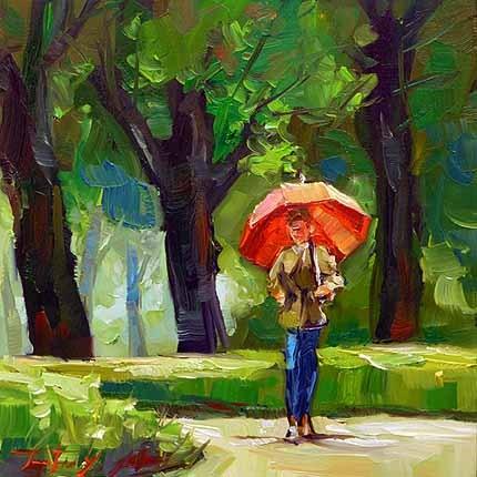 """""""im Rosensteingarten"""" original fine art by Jurij Frey"""