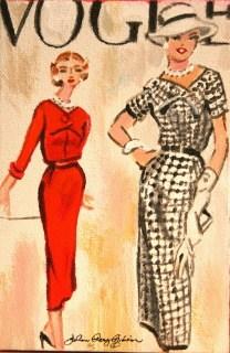 """Vintage Vogue"" original fine art by JoAnne Perez Robinson"