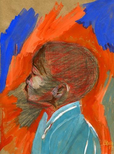 """Listen Bro"" original fine art by Donna Crosby"
