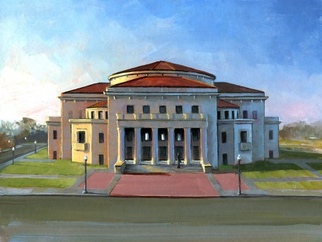 """The Palladium"" original fine art by Lesley Spanos"
