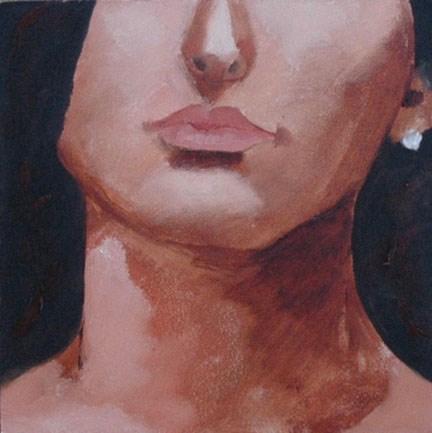 """""""FACE No. 110"""" original fine art by Linda Popple"""