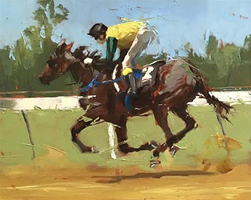 """RACE"" original fine art by Helen Cooper"