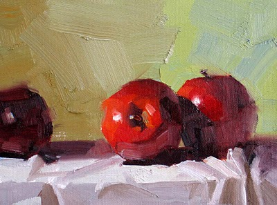 """""""Red Delicious --- Sold"""" original fine art by Qiang Huang"""