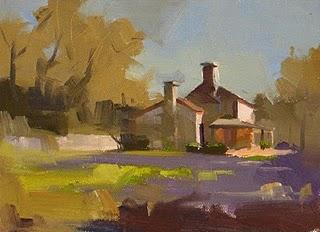 """JMK Log House --- Sold"" original fine art by Qiang Huang"