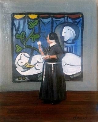 """No Ice Cream for Picasso"" original fine art by David Larson Evans"