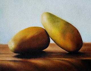 """Mango Ataulfo"" original fine art by Jonathan Aller"