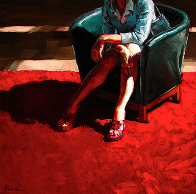 """Red Carpet"" original fine art by Karin Jurick"