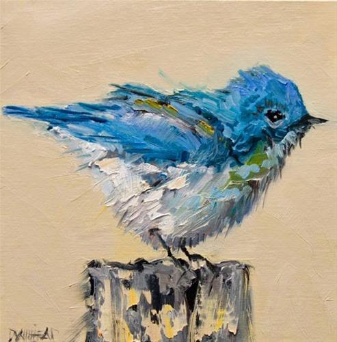 """ARTOUTWEST DIANE WHITEHEAD BIRD SERIES ARE OIL PAINTING ORIGINAL"" original fine art by Diane Whitehead"