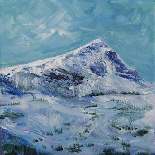 """1032 - Mount Albert Edward - Miniature Masterpiece Series"" original fine art by Sea Dean"