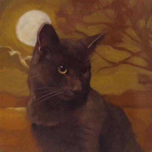 """""""Moonlit Coco (again) better picture this time!"""" original fine art by Diane Hoeptner"""